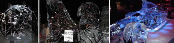 Esculturas de hielo en la Navidad de Madrid