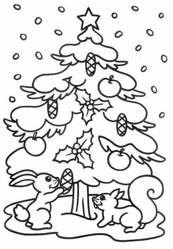 Dibujos para Colorear. Árbol de Navidad