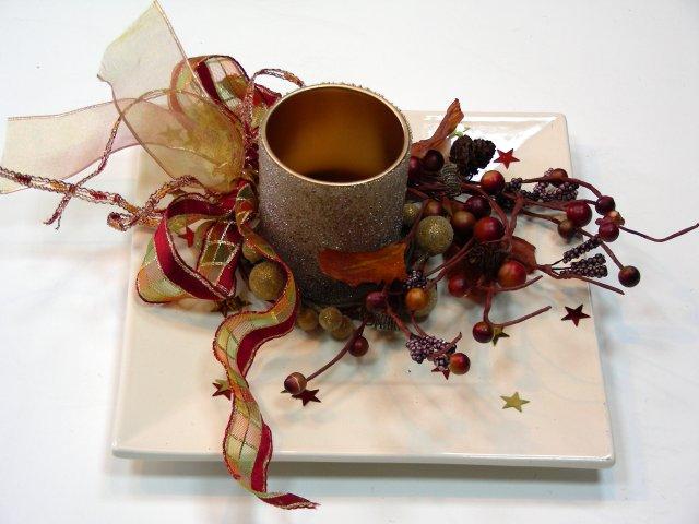 Muestras de centros de mesa imagui for Centro mesa navidad manualidades