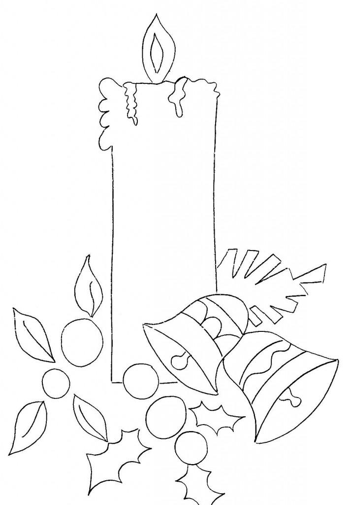Maestra de infantil coronas y velas de navidad para colorear - Dibujos para pintar en tela infantiles ...