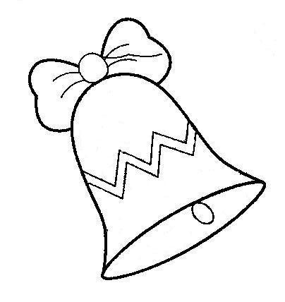 Dibujos de campanas de navidad para pintar
