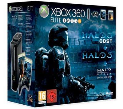 xbox 360 paquete con Halo