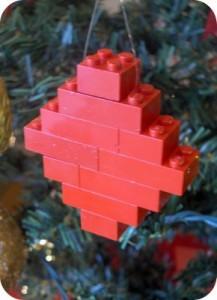 adornos navideños de lego
