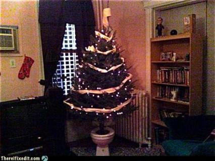 arbol navidad en retrete