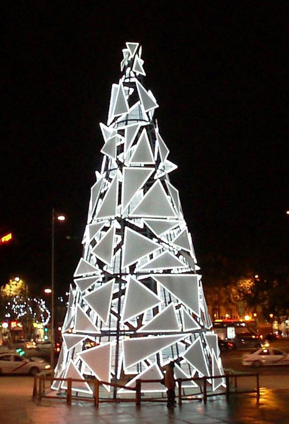 Árbol de Navidad en Atocha (Madrid 2009)