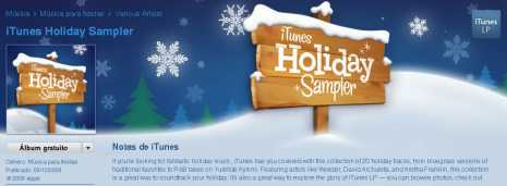 itunes holiday sampler