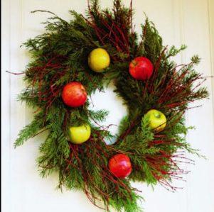 Decorando con fruta la Navidad 7