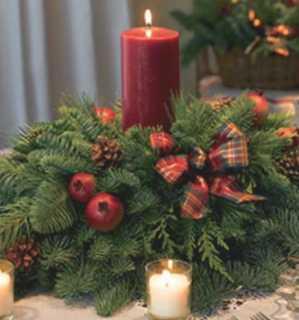 ¿Cómo hacer un centro de mesa navideño? 3
