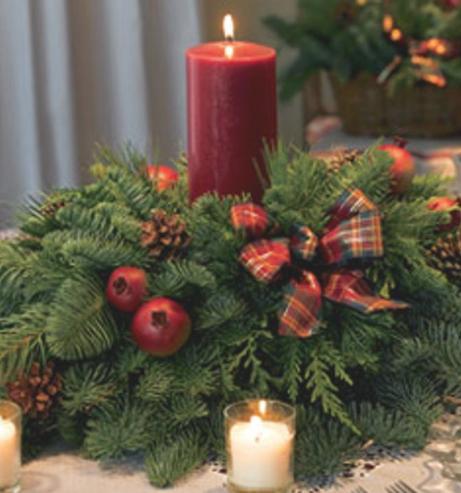 Adornos navide os for Como hacer un centro de mesa navideno