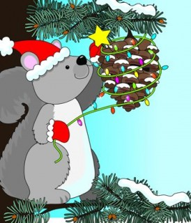 una navidad en el bosque