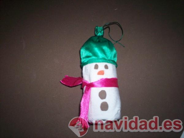 Adorno navideño, muñeco de nieve para el árbol