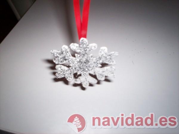 Plantilla copos de nieve para tu árbol de Navidad