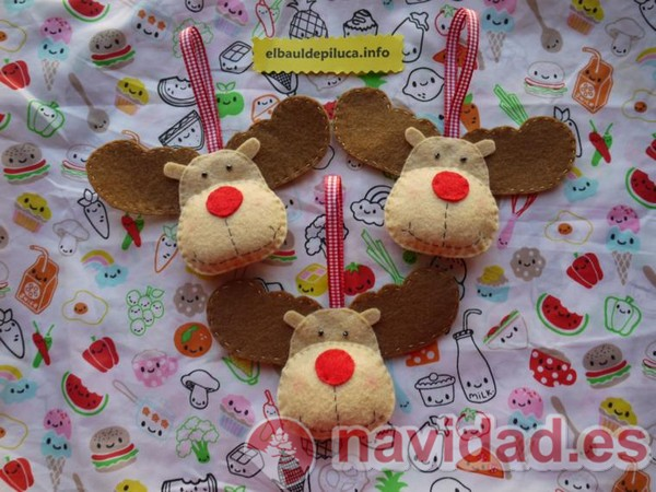 Adornos de Navidad 3 renos