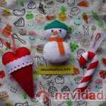 Adornos navideños artesanales