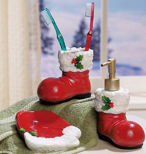 Bota de Navidad para cepillos de dientes