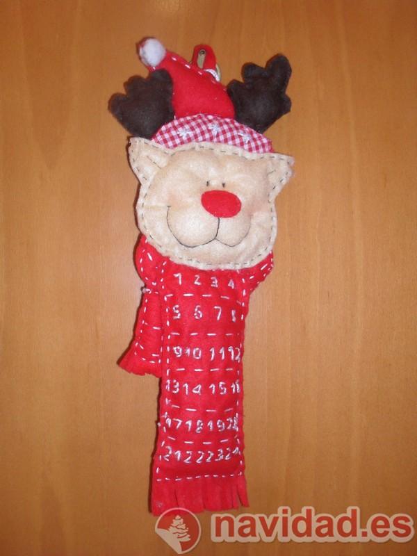 Adorno navideño corona de renos