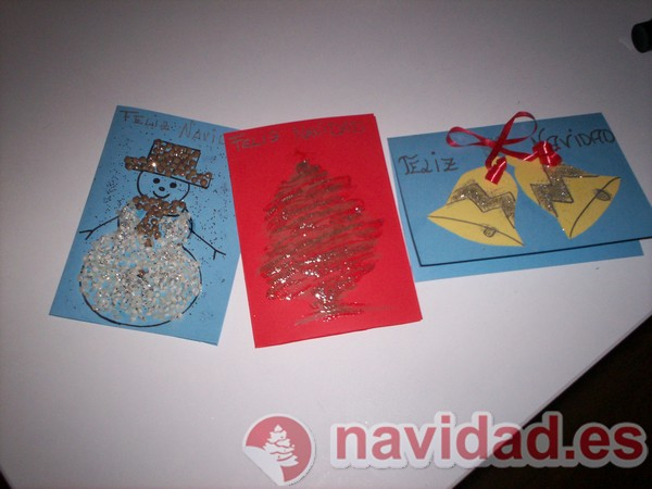 Christmas navide os hechos a - Postales de navidad hechas por ninos ...