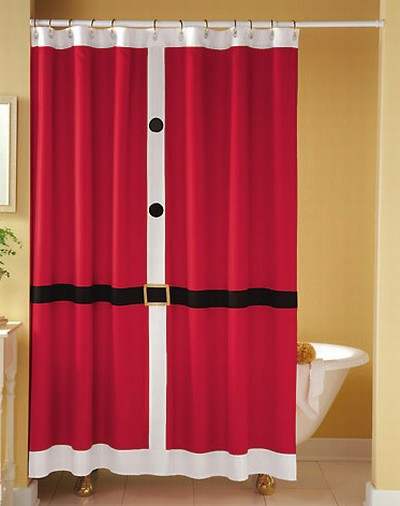 Cortinas De Baño Bonitas:Santa Suit Shower Curtain