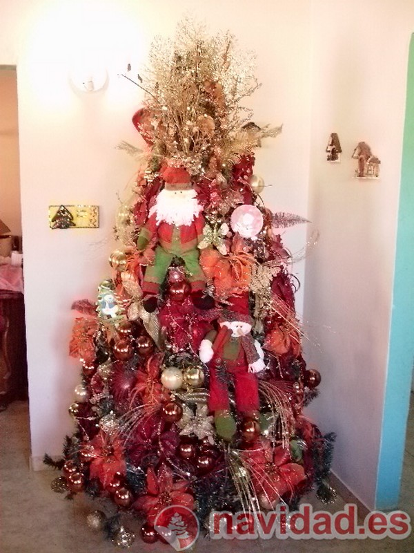 Decoración Árbol de Navidad iluminado