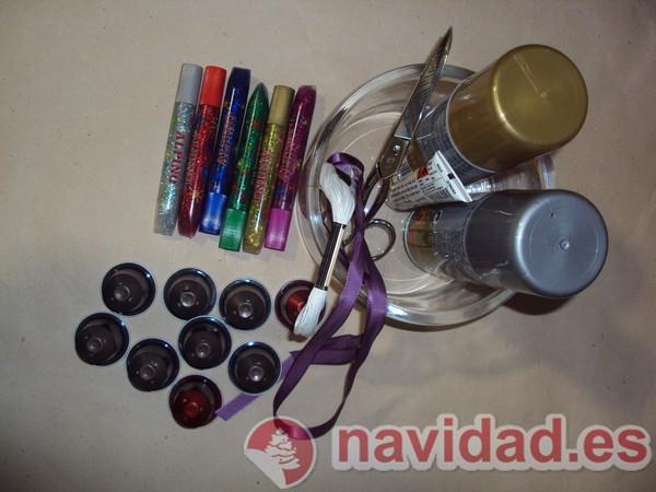Adonos navideños hechos con cápsulas de Nespresso 10