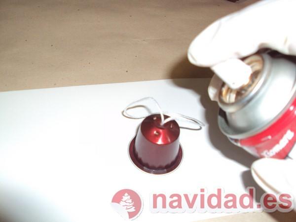 Adonos navideños hechos con cápsulas de Nespresso 12