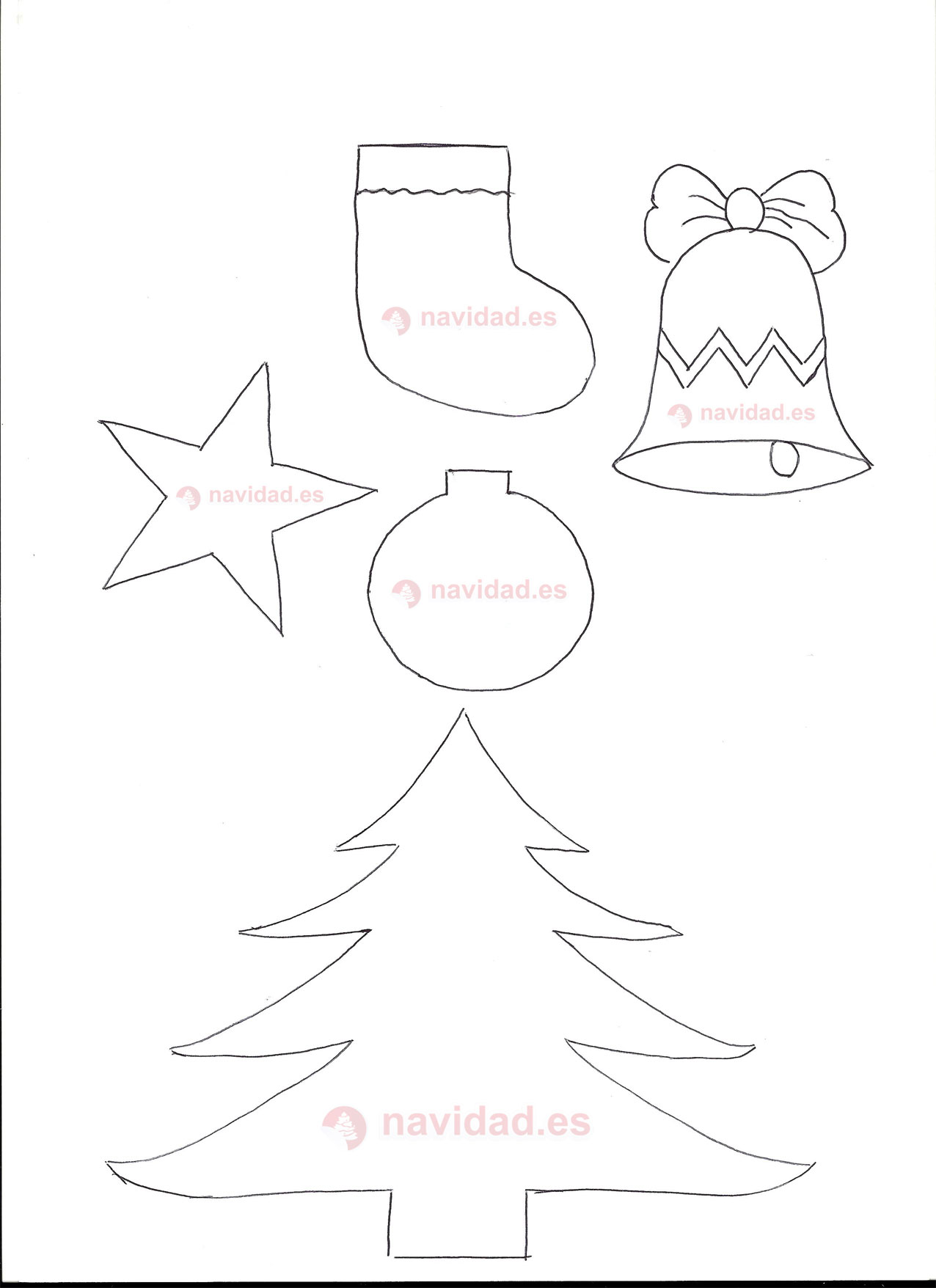 Plantilla motivos navide os para manualidades navidad - Motivos navidenos dibujos ...