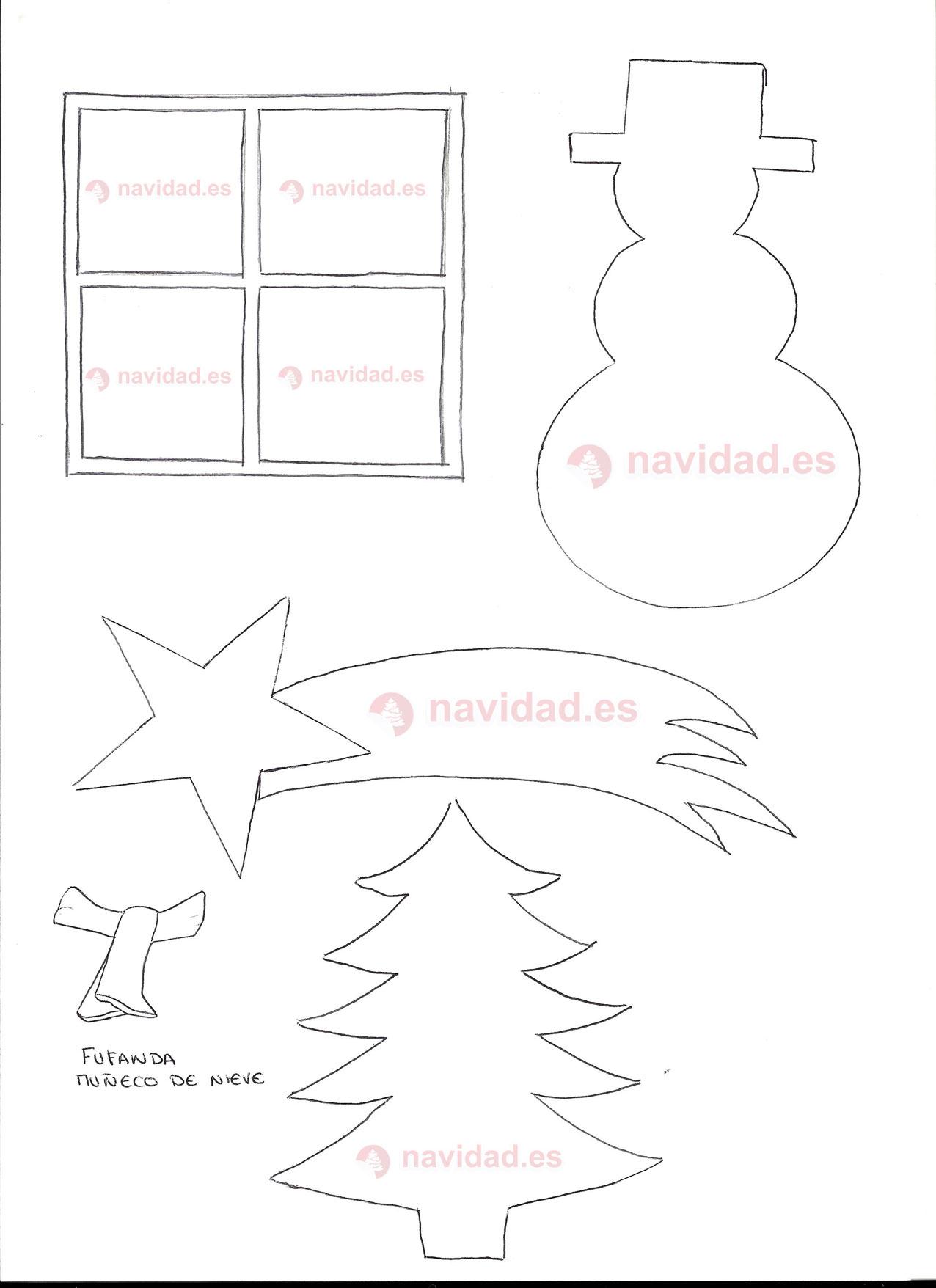 Hacer postales navideñas con lentejas arroz y purpurina