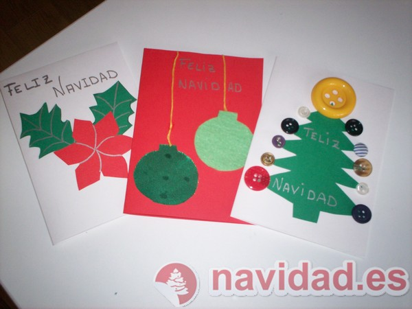 Postales de navidad hechas a mano imagui for Tarjetas de navidad hechas por ninos