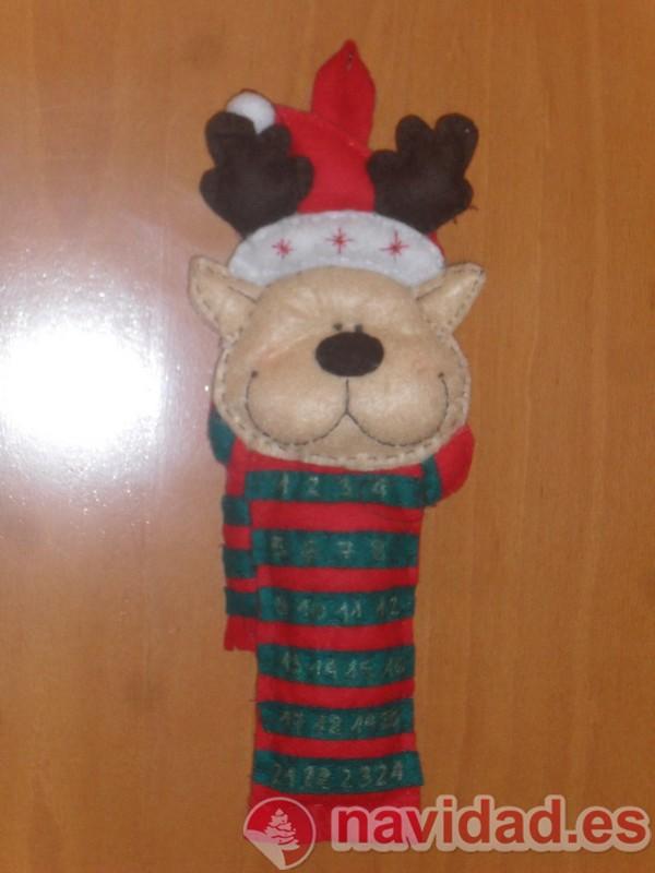 Reno de fieltro calendario de adviento navidad navidad - Renos de fieltro ...
