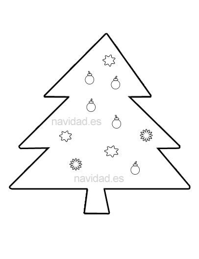 abeto de Navidad para recortar y colorear