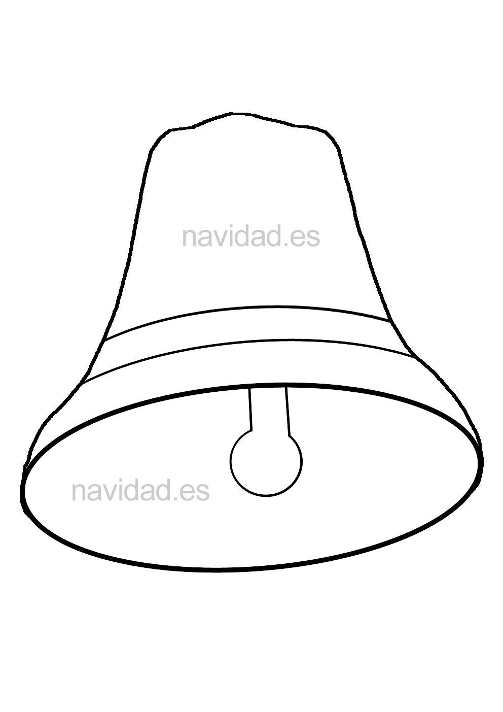 campanas de navidad, imprimir, colorear, dibujar Imagui