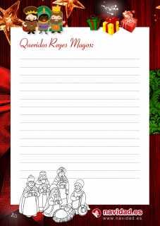 Carta Reyes Magos de Oriente www.navidad.es