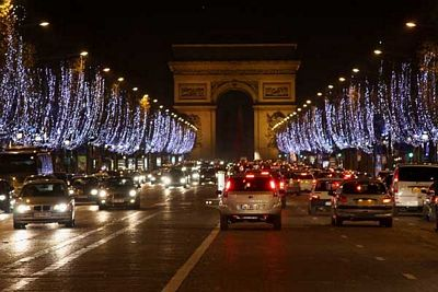 paris iluminado para navidad