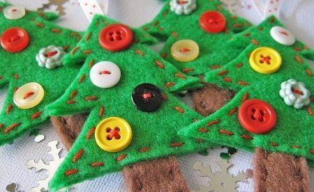 Adorna tus navidades con árboles de navidad de fieltro 5