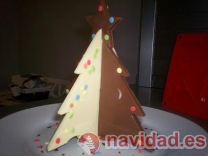 Arbol 3d de chocolate