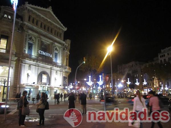 Barcelona decorado en Navidad