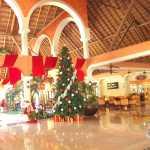 Decoración de Navidad, árbol navideño en Riviera Maya