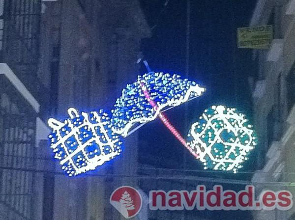 Adorno navideño de luces en Cáceres