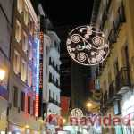 Madrid, luces de Navidad Calle del Carmen
