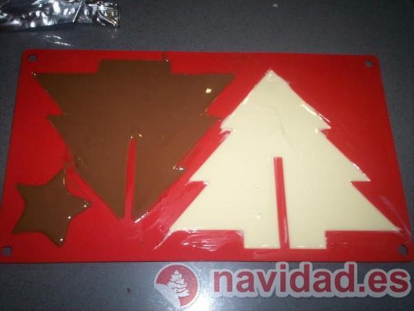 abeto navideño de chocolate