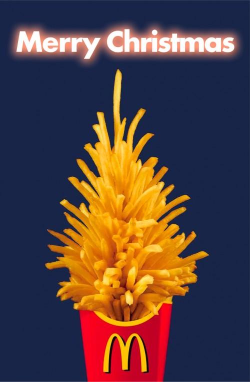 Publicidad navideña McDonalds - árboles de Navidad en la publicidad