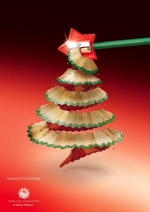 Publicidad navideña sacapuntas