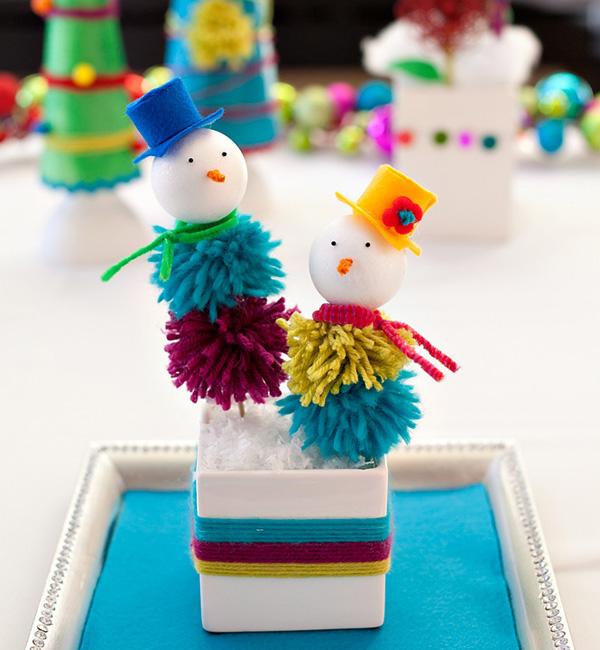 Muñecos de navidad. Para hacer con niños 9
