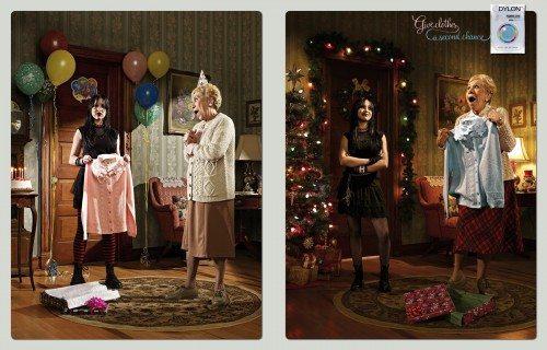 Publicidad navideña Dylon fábrica de tintes