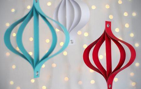 Adornos navide os en papel navidad tu revista navide a - Adornos de navidad con papel ...