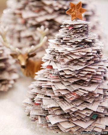 rbol Navideo De Peridico Navidad