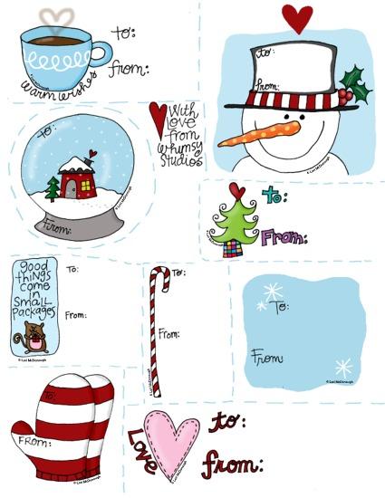 Etiquetas Navideñas. Decora tus Regalos 12