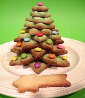 Árbol de Navidad hecho con galletas 3