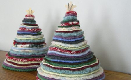 Recicla tus Suéteres. Ingeniosos Árboles Navideños 3