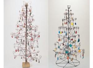 árboles de Navidad de alambre